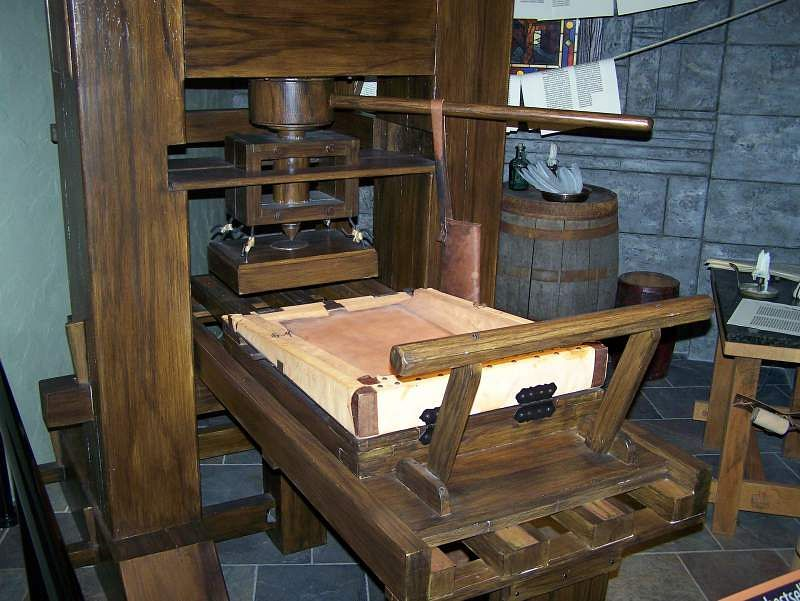 printing press german inventions