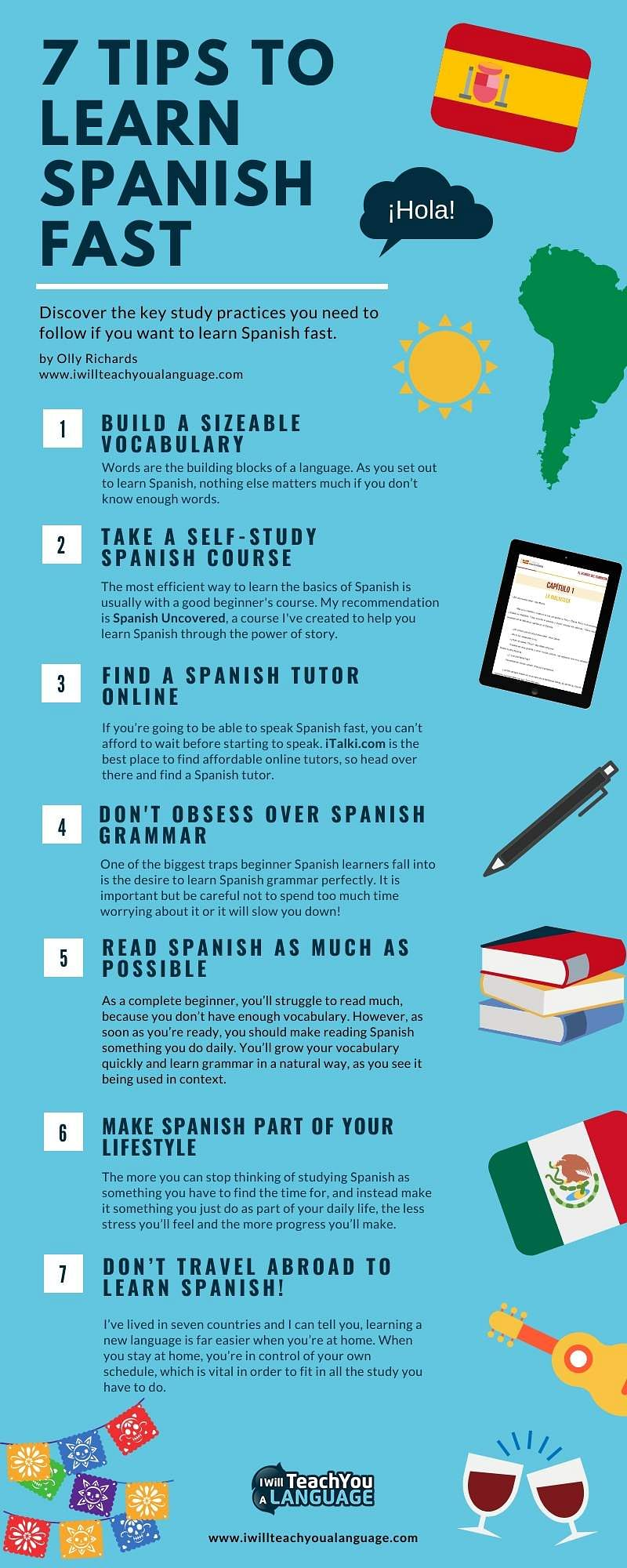 easy to learn spanish free online