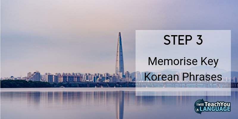 Learn Korean memorise key phrases