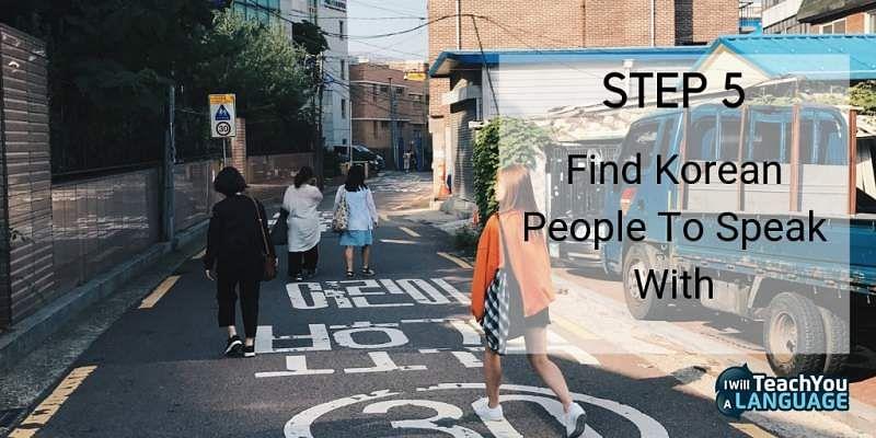 learn Korean speak to people