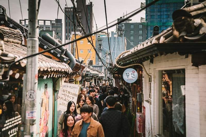 learn Korean street in Seoul